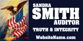 320-5c-election-political-campaign-magnet-banner-red-blue-white-eagle-flag-photo-smith-auditor